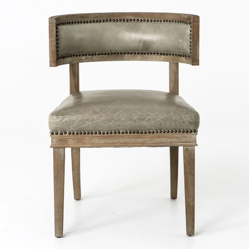 ... Grey Leather Dining Chairs · Kensington Carter Dining Chair Light Grey  ...