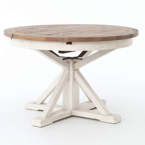 Expandable Round Pedestal Dining Table ...