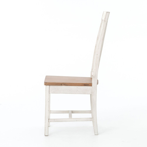 ... Cintra Rustic White Wooden Dining Room Chair ...
