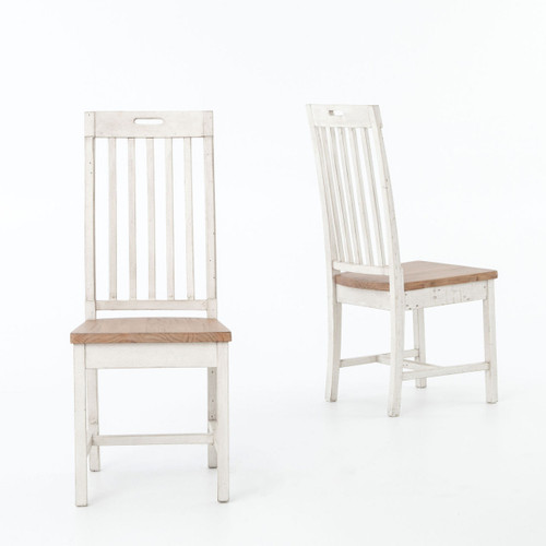 ... Cintra Rustic White Wood Dining Room Chairs ...