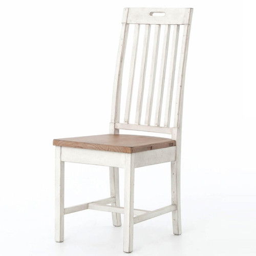 Cintra Rustic White Wood Dining Room Chair, VCID-07-4237