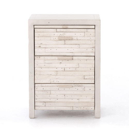 ... Off White Nightstand With 3 Drawers ...