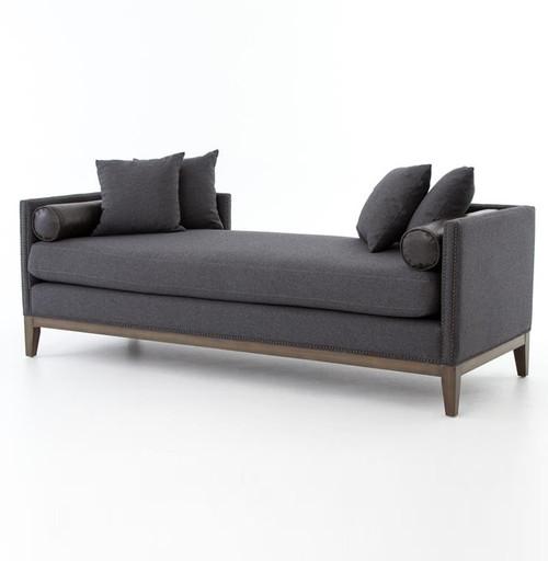 modern sofas for sale. Kensington Charcoal Upholstered Double Chaise Daybed Modern Sofas For Sale N