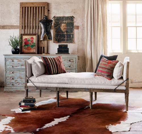 Techstyle Patchwork Upholstered Bedroom Bench Reviews: Allison French Oak Upholstered Chaise Bed End Bench