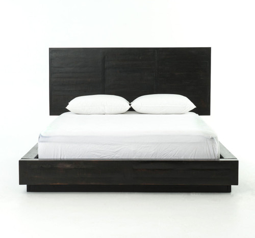 Gentil ... Suki Modern Black King Platform Bed With Headboard ...