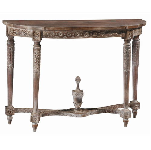 Antoinette Hand Carved Demilune Console Table