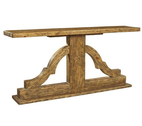 Bracket Solid Wood Console Table ...