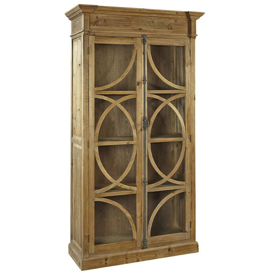 Kaleidoscope French Country Weathered Wood Display Cabinet | Zin Home
