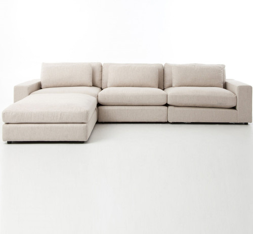 ... Bloor Beige Contemporary 4 Piece Sectional Sofa ...
