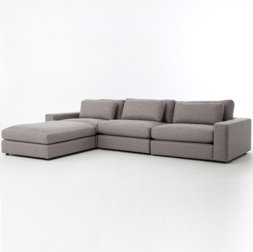 Bloor Gray Upholstered Contemporary 4 Piece Sectional Sofa ...