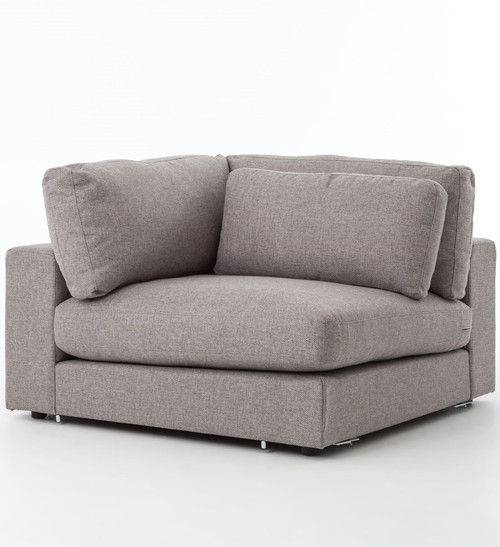Bloor gray contemporary 5 piece corner sectional sofa 131 for 5 piece grey sectional sofa