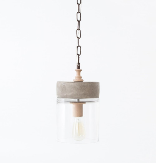 Concrete Mason Jar Chandelier Zin Home