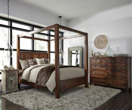 Kosas California King Wood Canopy Bed | Zin Home