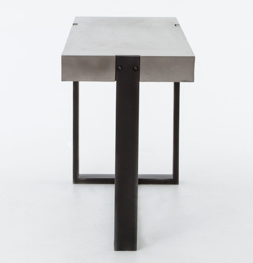 Elegant ... Grey Console Table With Concrete Top And Metal Legs ...