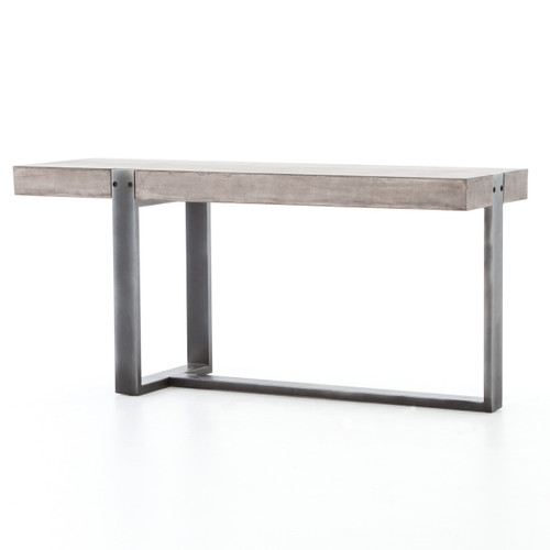 Mercury Concrete + Iron Console Table