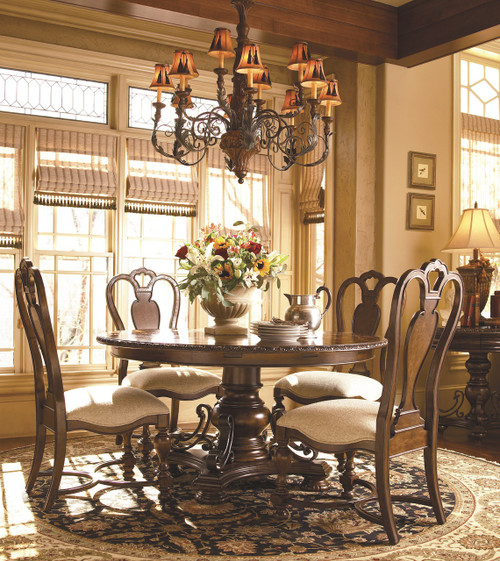 ... Expandable Round Pedestal Dining Table