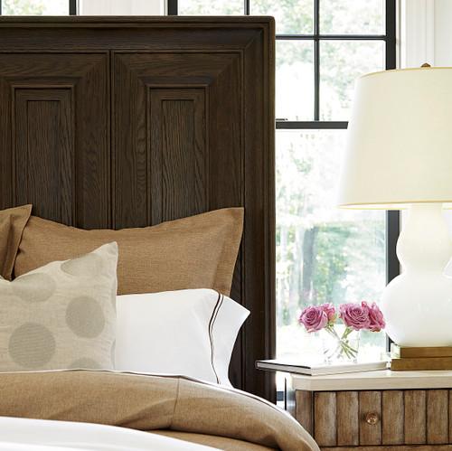 California Rustic White Oak King Panel Bed Zin Home