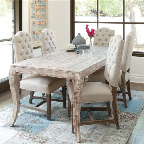aria 72   dining table  aria 72   dining     aria 72   dining table   solid reclaimed wood dining room table      rh   zinhome com