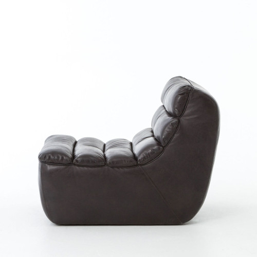 ... Armless Chair; Chelsea Leather Chair Black ...