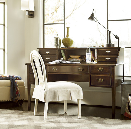 Sonoma Vintage Brown Slattery Writing Desk With Hutch