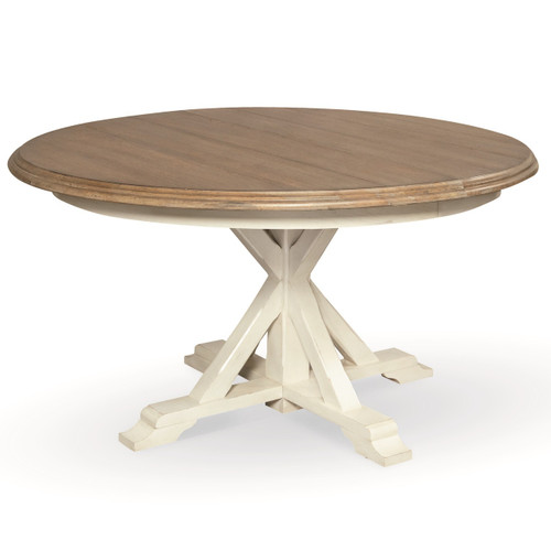Coastal Beach White Oak Round Expandable Dining Table 54  : 128757AltSilo431771449876520 from www.zinhome.com size 500 x 500 jpeg 21kB