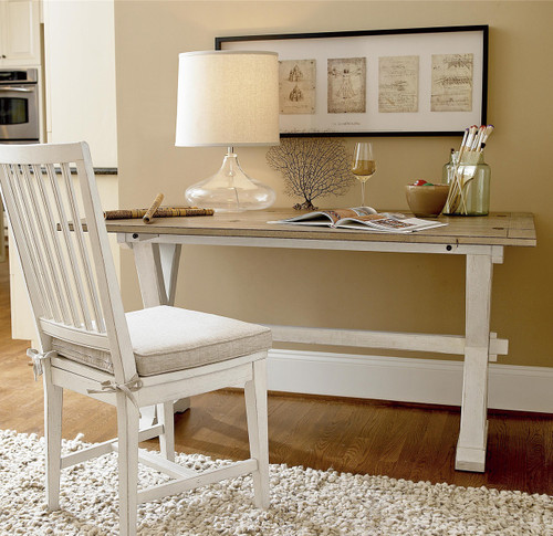 Coastal Beach White Drop Leaf Kitchen Console Table Zin Home