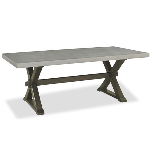 Flatiron Oak Wood + Stainless Steel X Base Dining Table ...
