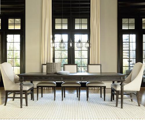 French Oak Tribeca Turned Leg Extending Dining Table 78\