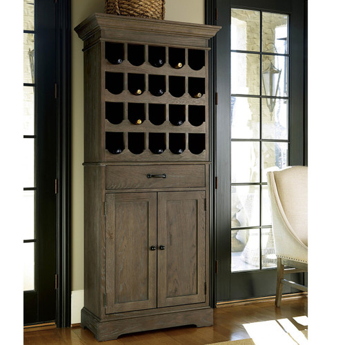Fantastic French Oak Tall Wine Bar Cabinet | Zin Home IJ87