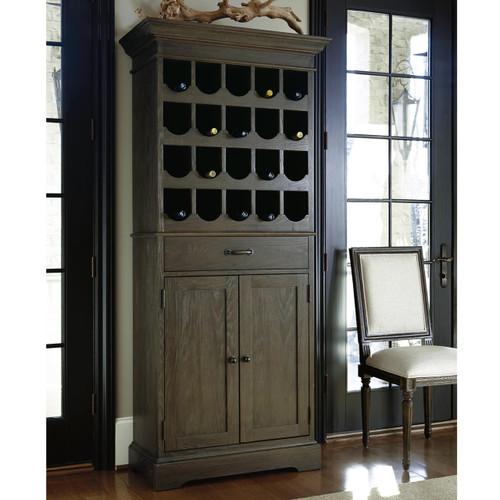 ... French Oak Tall Wine Bar Cabinet ...