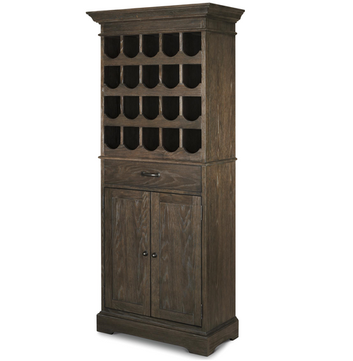 wine and bar cabinet. French Brown Oak Tall Wine Bar Cabinet And