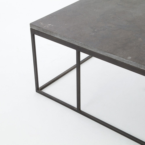 Coffee Table With Bluestone Top: French Industrial Iron + Bluestone Top Coffee Table