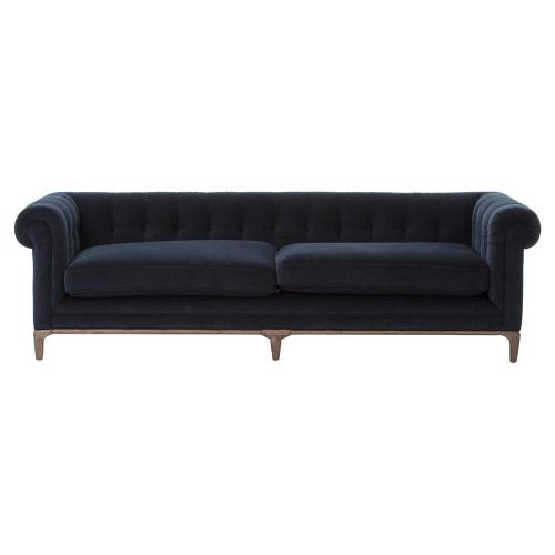 ... Kensington Navy Upholstered Chesterfield Sofa ...