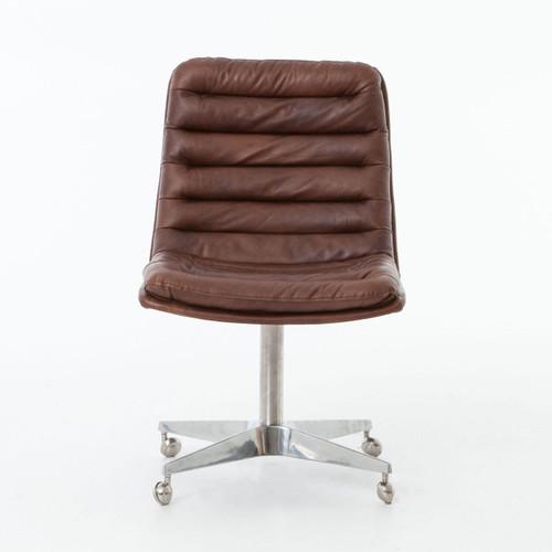 leather office chair modern. Malibu Distressed Whiskey Leather Office Desk Chair, Modern Chair T