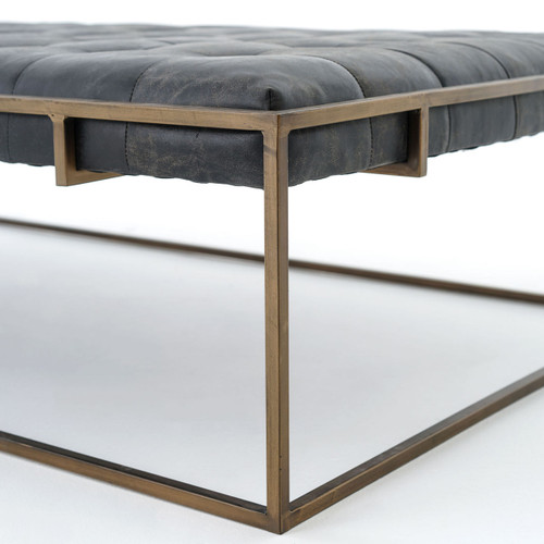 ottoman coffee table. Oxford Library Tufted Black Leather Coffee Table Ottomans Ottoman