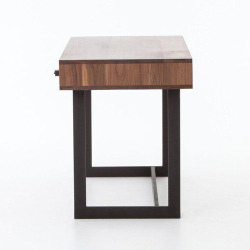 Relatively Anderson Industrial Rustic Oak Wood and Metal Writing Desk with  QS08