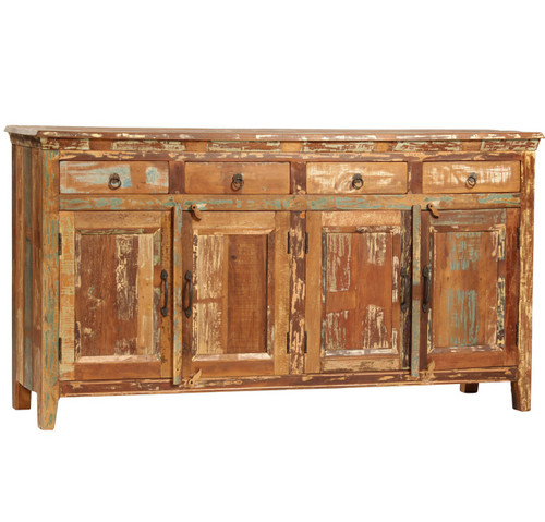shabby chic vintage carved buffet sideboard zin home. Black Bedroom Furniture Sets. Home Design Ideas