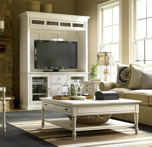 Living Room Lighting 20 Powerful Ideas To Improve Your: Country-Chic White Wood Square Coffee Table With Lift Top