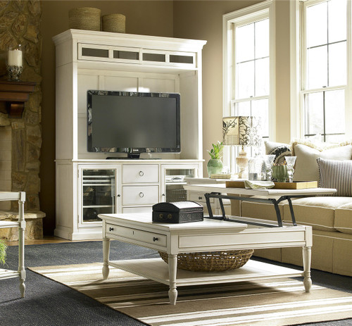White Lift Top Coffee Tables: Country-Chic White Wood Square Coffee Table With Lift Top