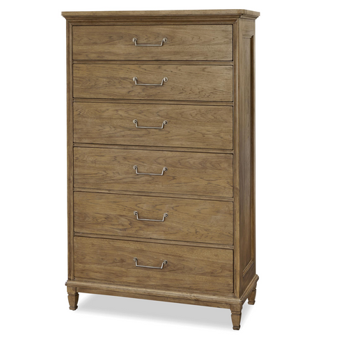 French Modern Light Wood 8 Drawers Tall Bedroom Chest