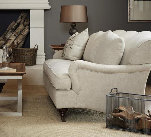 ... Churchill Linen Upholstered English Roll Arm Sofa Sale