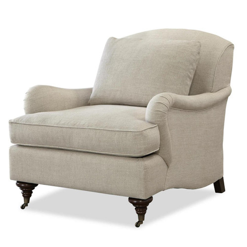Churchill Linen Upholstered English Rolled Arm Chair