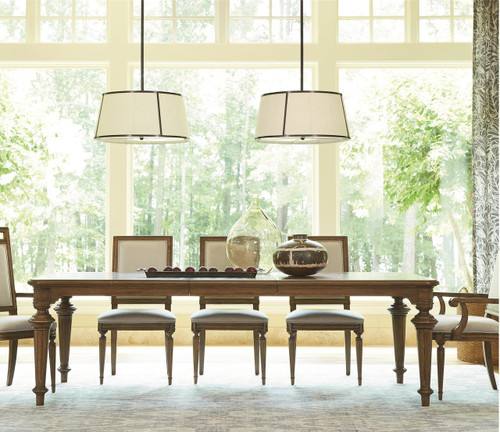 Dining Table Maison Fluted Leg French Extending Kitchen