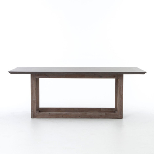 Masonry Wood And Black Concrete Top Dining Table Zin Home - Concrete dining table for sale