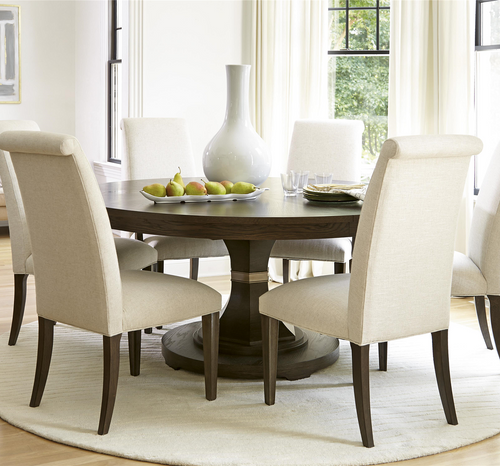 California Rustic Oak 7 Piece Round Dining Room Sets ...