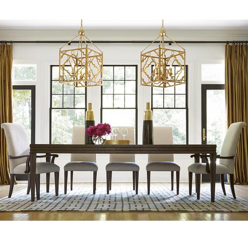 California Rustic Oak Extending 9 Piece Dining Room Set ...