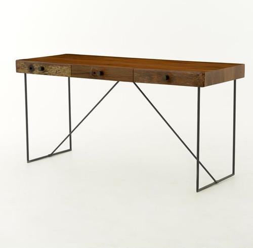 ... Bina Wright Industrial Modern Wood Office Desk ...