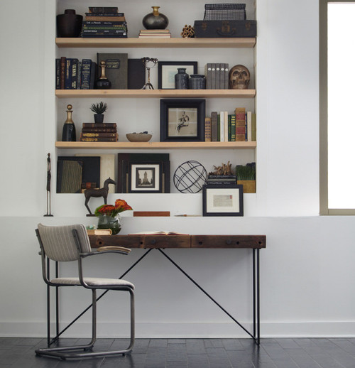 Bina Wright Industrial Modern Wood Office Desk