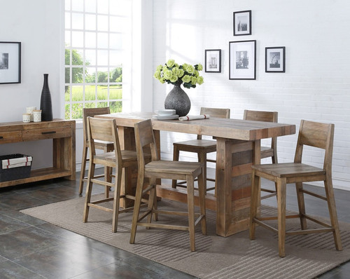 ... Angora Natural Reclaimed Wood Counter Height Dining Tables