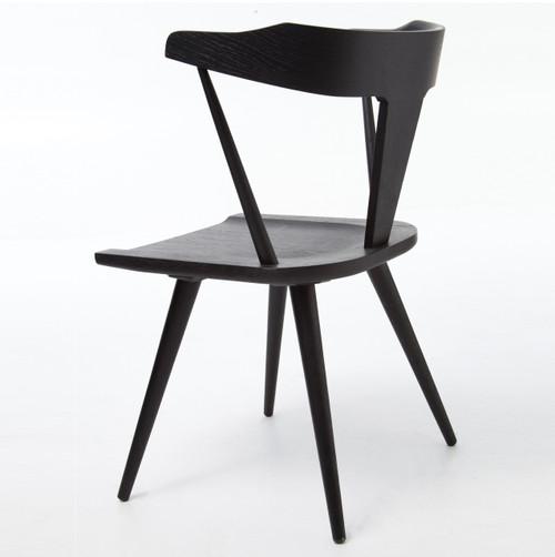 Ripley Black Oak Windsor Dining Chair Zin Home